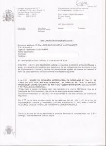 Ratificación de denuncia